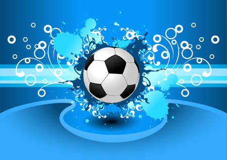 Grunge  background with a soccer ball for your design