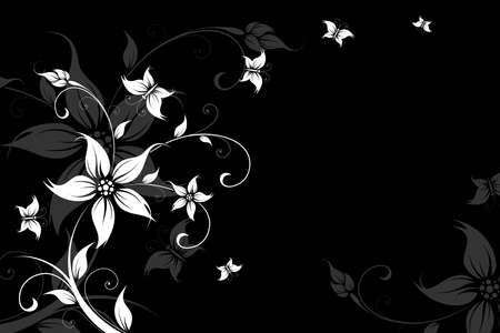 butterfly background: Abstract Background with flowers and butterfly for your design