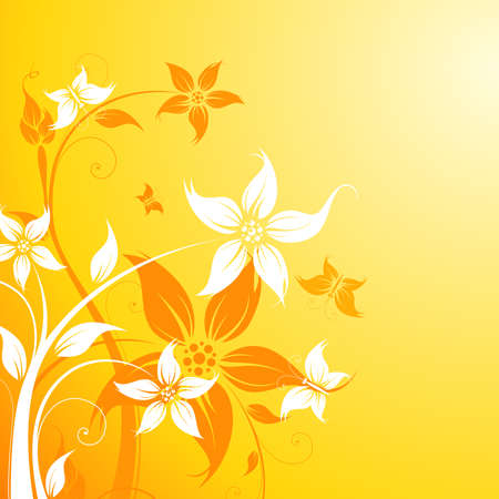 complexity: Abstract Background with flowers and butterfly for your design