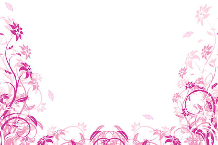 Abstract Background with flowers and butterfly for your design Stock Vector - 7448503