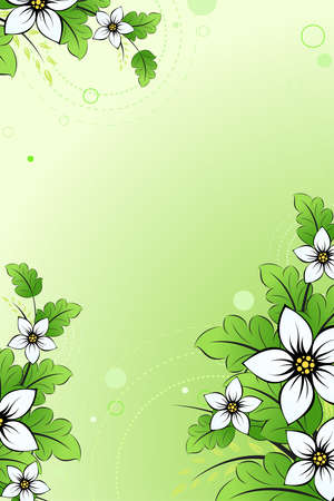 Green   floral background for your design Stock Vector - 7593121