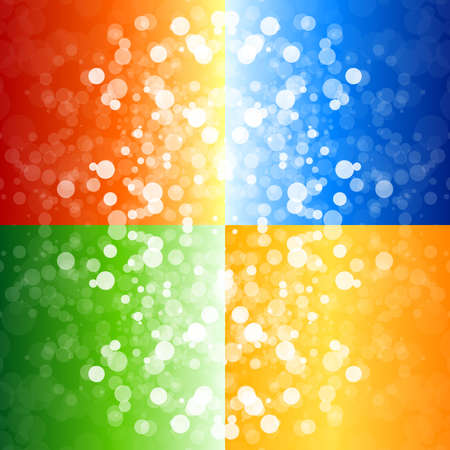 blurry lights: Four blurry lights backgrounds for your design Stock Photo
