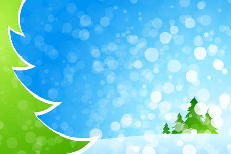 vibrant: Christmas background with Christmas tree for your design Illustration