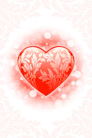 Abstract Valentine's day Heart background with sparkle Stock Vector - 8455321