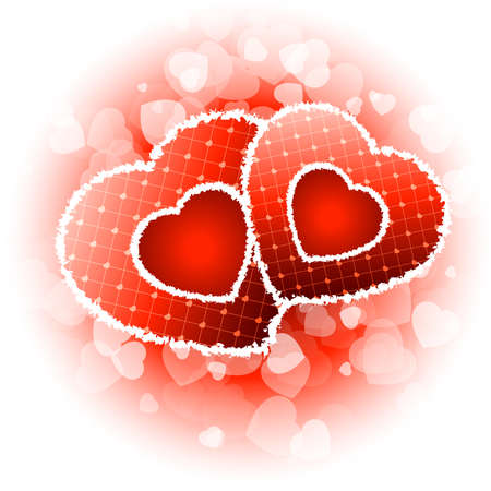 Red Valentines day background with Hearts and sparkles Stock Vector - 8616465