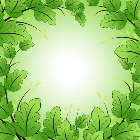 Green Frame with leaves for your design Stock Vector - 9234073