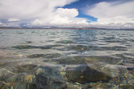 crystal clear: Crystal clear lake Stock Photo