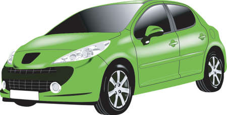 green car Vector