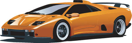 dodge: yellow sport car