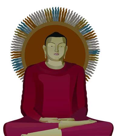 the illustration of buddha Stock Illustration - 3068441