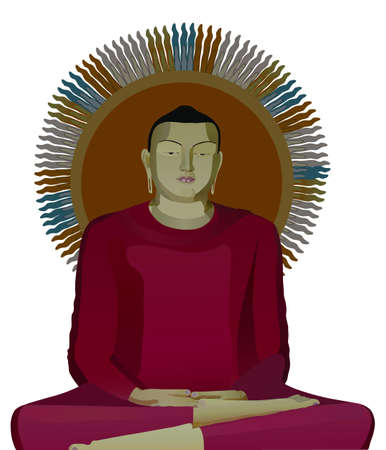 the illustration of buddha Stock Illustration - 3068441