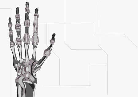 the illustration of robots hand illustration