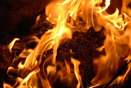 hellish: flame Stock Photo