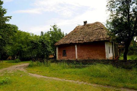 the folk ukrainian house in outdoor museum of folk architecture