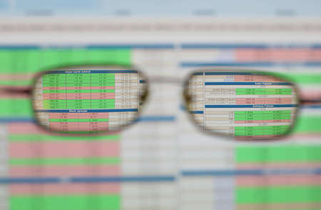 sharp view on business through glasses