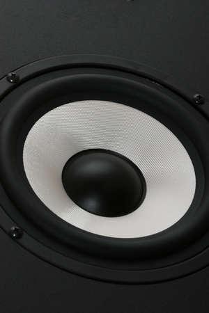 One audio speaker angel view Stock Photo