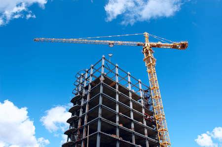 building under construction on sky background