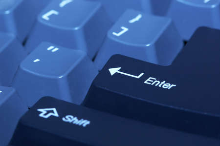part of computer keyboard with Enter button Stock Photo - 4973029
