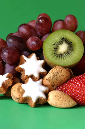 An assortment of fruit and nuts