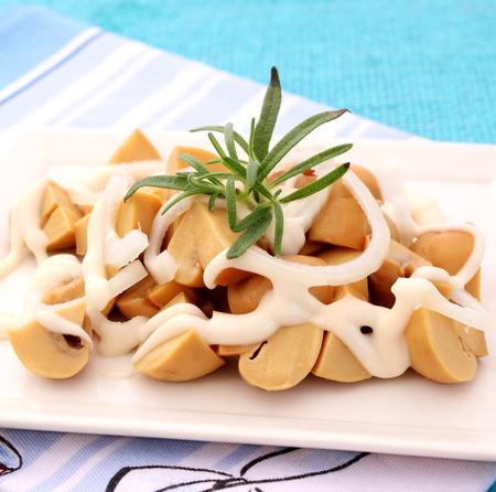 champignons: Salad of champignons Stock Photo