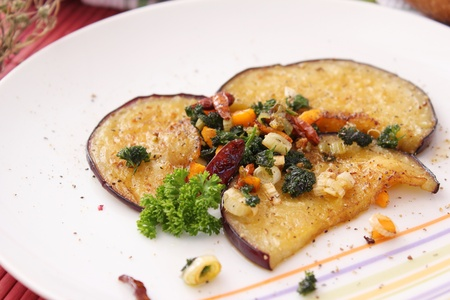 ess: Eggplant with vegetables