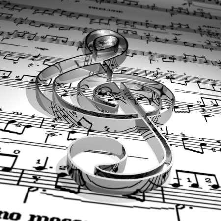 Musica & Musica simbolo foglio