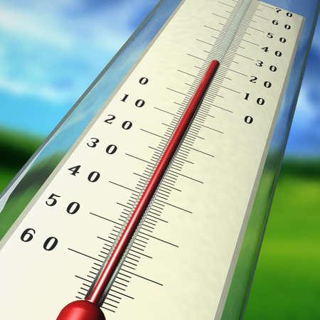 Il termometro indica la temperatura d'aria in estate