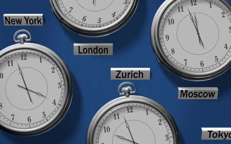 timezone: Different time in global financial centers