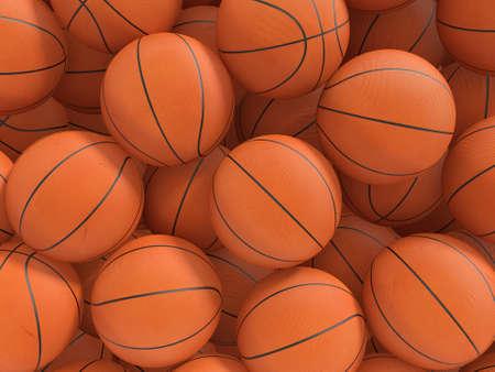 canestro basket: Sport palle sfondo. 3D rendering illustrazione.