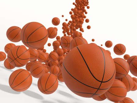 bounce: Falling balls.  3D rendered illustration.