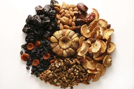frutos secos: Los diferentes tipos de frutos secos.  Foto de archivo