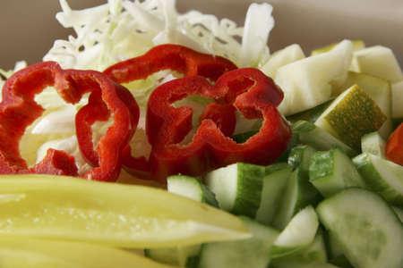 Cut vegetables. Stock Photo - 1843520