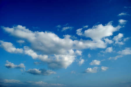 bluer: White clouds are photographed on a blue background
