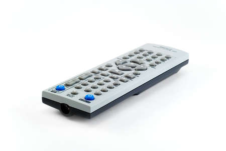 The remote control the TV photographed on a white background Stock Photo