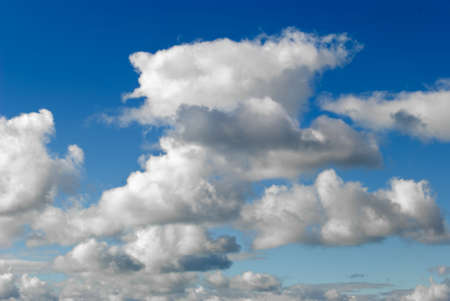 bluer: White clouds are photographed on a background of the blue sky