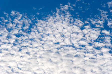 bluer: White clouds on a background of the blue sky