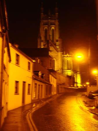 streetscene: Irish streetscene at night Stock Photo