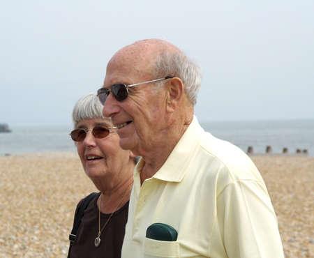 suntanned: Sun-tanned couple on deserted beach