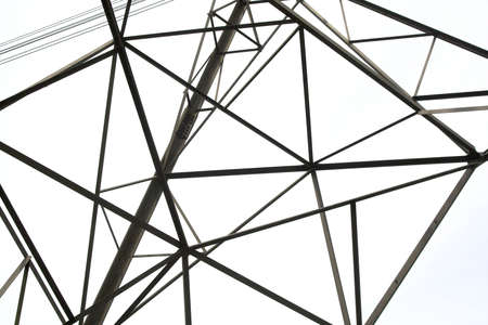crossbars: Section of the cross-bars and structure of a pylon