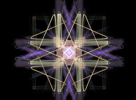 suggesting: Fractal suggesting a design didnt work and was scribbled over - or a snowflake Stock Photo