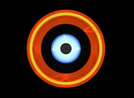 conceptual - fractal of an archery target photo