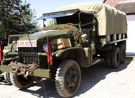 World War II Army Truck - once it carried explosives !