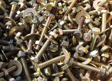 screws & bolts, with nuts & washers photo