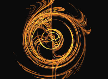 suggesting: Fractal suggesting a swirl which reverses itself