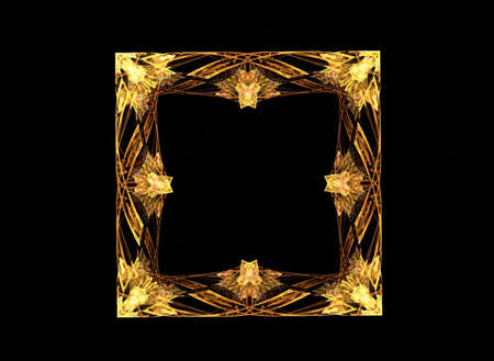 suggesting: Fractal suggesting an engraved photo-frame