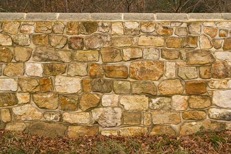 recently: Recently rebuilt sandstone wall