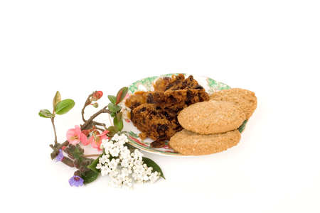 Cake & oatmeal biscuits Stock Photo - 2660343