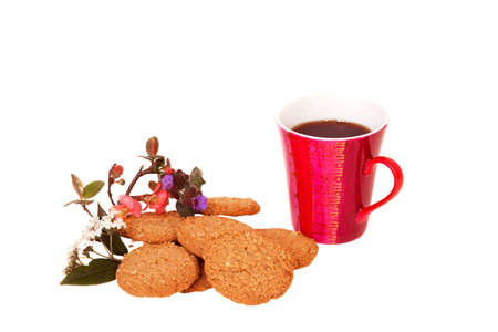 Mug of Coffee with Oatmeal Biscuits Stock Photo - 2660341