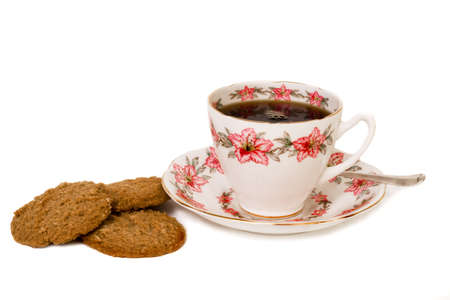 mid-morning snack of coffee and biscuits Stock Photo - 2678652