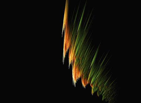 stola: Fractal vorgeschlagen die farbigen Rand eines schwarzen Schal oder Stola Lizenzfreie Bilder